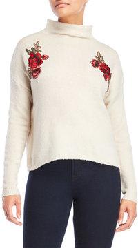 Cliche Floral Appliqué Sweater