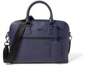 Ralph Lauren Pebbled Leather Briefcase Blue One Size