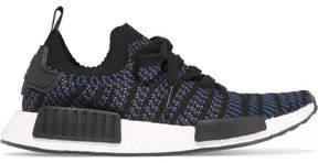 adidas Nmd_r1 Rubber-trimmed Primeknit Sneakers - Black
