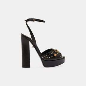 Fausto Puglisi Open Toe Leather Platform Sandal