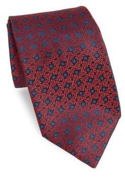 Charvet Abstract Floral Medallion Tie