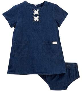 7 For All Mankind Lace-Up Dress & Bloomers (Baby Girls)
