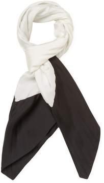 Valentino Women's Bi-Color Silk Rectangle Scarf 34 x 34