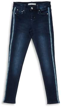 Tractr Girl's Basic Embroidered Pants
