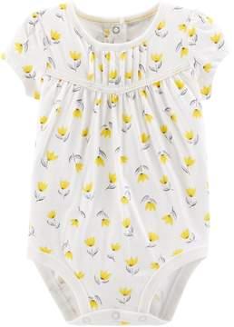 Osh Kosh Oshkosh Bgosh Baby Girl Floral Lace Bodysuit