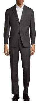 Lauren Ralph Lauren Striped Two-Button Wool Suit