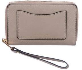 Marc Jacobs Grained Leather Zip-Around Wallet