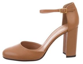 Calvin Klein Collection Leather d'Orsay Pumps