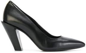 A.F.Vandevorst slanted heel pumps