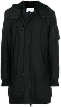 Pierre Balmain oversized hooded coat