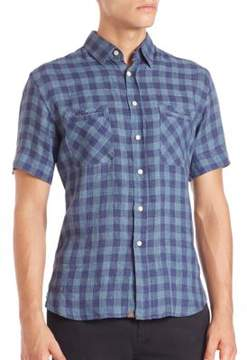 Billy Reid Donelson Check Plaid Shirt