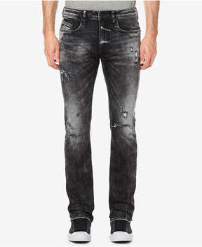 Buffalo David Bitton Men's Evan-x Slim-Straight Fit Destroyed Jeans