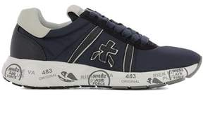 Premiata Women's Blue Fabric Sneakers.