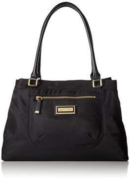 Calvin Klein Belfast Dressy Nylon Shopper, Black/Gold
