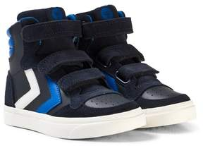 Hummel Stadil Leather Jr Total Eclipse Trainers