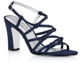 Adrianna Papell Adelson Knotted Satin Sandals