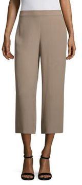 Eileen Fisher Silk Georgette Wide Cropped Pants