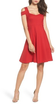 Felicity & Coco Women's Cold Shoulder Fit & Flare Dress