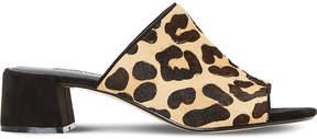 Dune Mosco flare heeled mule sandal