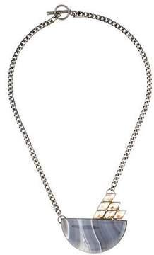 Anton Heunis Half Moon Agate Necklace