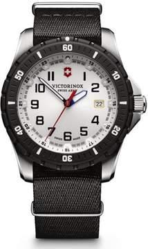 Victorinox Maverick Sport White Dial Black NATO Nylon Men's Watch Model 241676