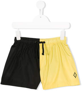 Marcelo Burlon County of Milan Kids colour blocked swim shorts