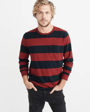 Abercrombie & Fitch Long-Sleeve Icon Pocket Tee