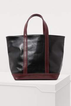 Vanessa Bruno Medium leather tote with notched strap