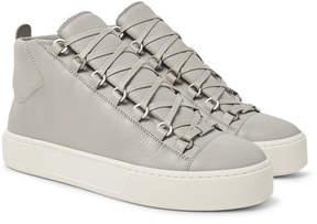 Balenciaga Arena Full-Grain Leather High-Top Sneakers