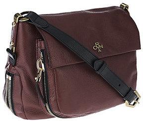 As Is orYANY Italian Grain Leather Shoulder Bag - Corrine