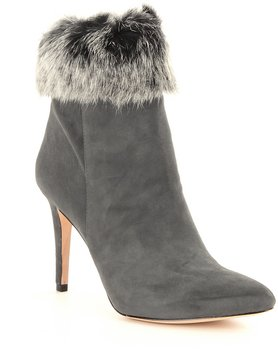 Antonio Melani Kylan Kidsuede Leather Rabbit Fur Dress Booties