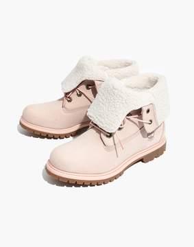 Madewell Timberland® Teddy Fleece Waterproof Fold-Down Boots