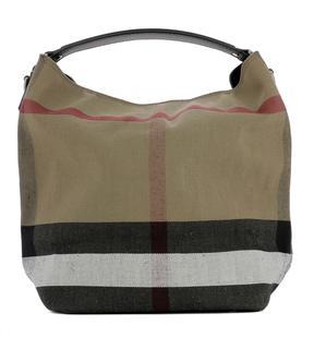 Burberry Beige Fabric Handle Bag - BEIGE - STYLE