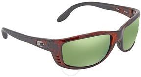 Costa del Mar Zane Green Mirror Rectangular Sunglasses ZN 10 OGMP