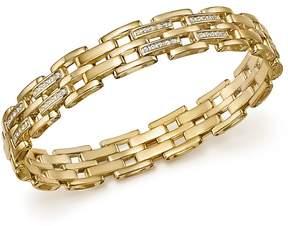 Bloomingdale's Diamond Brick Link Men's Bracelet in 14K Yellow Gold, 1.0 ct. t.w. - 100% Exclusive