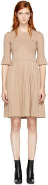Carven Pink Lurex Pleated Dress