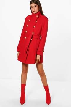 boohoo Military Wool Look Coat