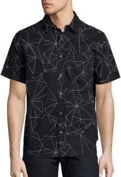 Madison Supply Geometric Printed Shirt
