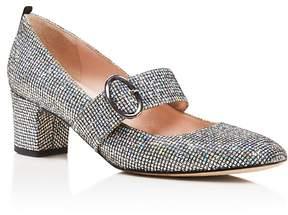Sarah Jessica Parker Tartt Metallic Mary Jane Mid Heel Pumps