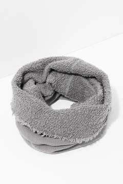 7 For All Mankind Poodle Tube Scarf In Heather Grey