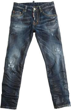 DSQUARED2 Skinny Coated Stretch Denim Jeans