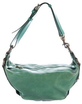 Marc Jacobs Leather Shoulder Bag - GREEN - STYLE
