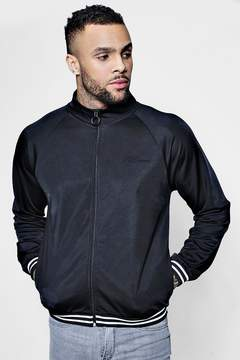 boohoo Funnel Neck MAN Signature Zip Through Track Top