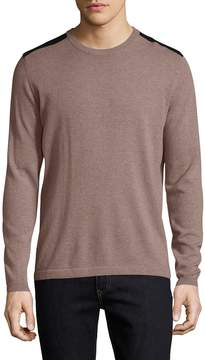 Autumn Cashmere Men's Cashmere Leather Patched Sweater