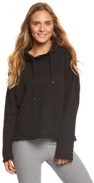 Betsey Johnson Floral Embroidery Workout Hoodie 8160793