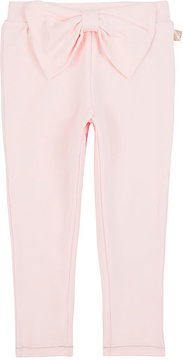 Billieblush BOW-EMBELLISHED STRETCH-COTTON PANTS