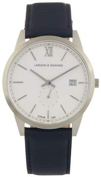 Larsson & Jennings Saxon stainless-steel and leather watch