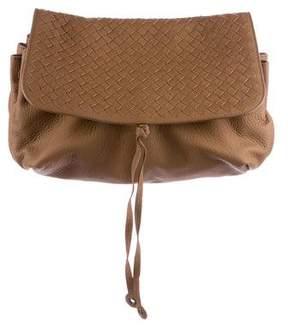 Bottega Veneta Intrecciato Leather Flap Clutch