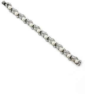 Ben-Amun Women's Faux Pearl Line Bracelet