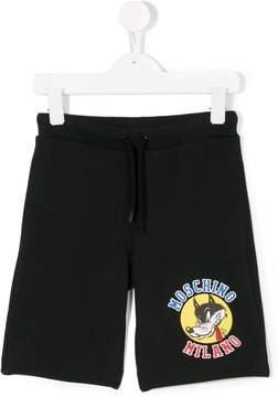 Moschino Kids logo printed shorts